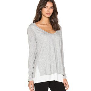 Vince Double Layer Colorblock Tee